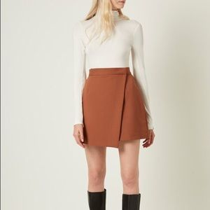 French Connection brown a symmetrical skirt